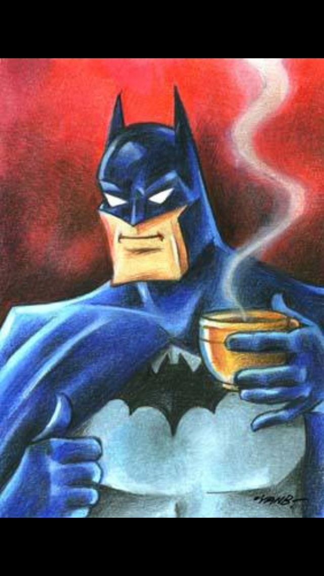 Even super hero's drinks coffee