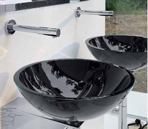Lineabeta Goto skleněná umyvadla ve dvou velikostech , 30cm & 42.5cm v průměru