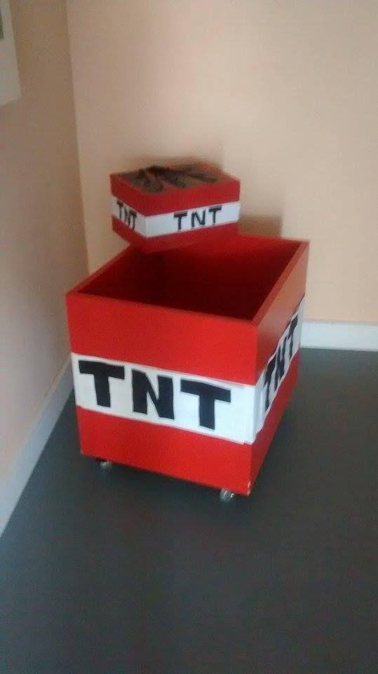 caixa de presente TNT minecraft | aniver Érick | Pinterest ...