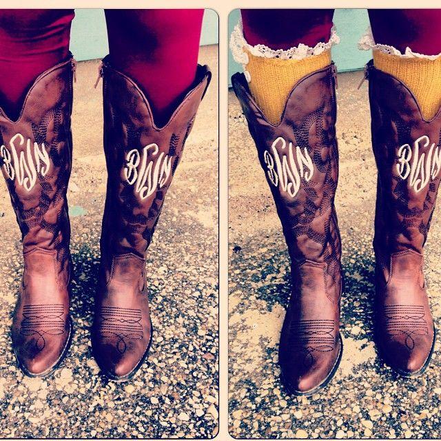 monogram boots. yesss