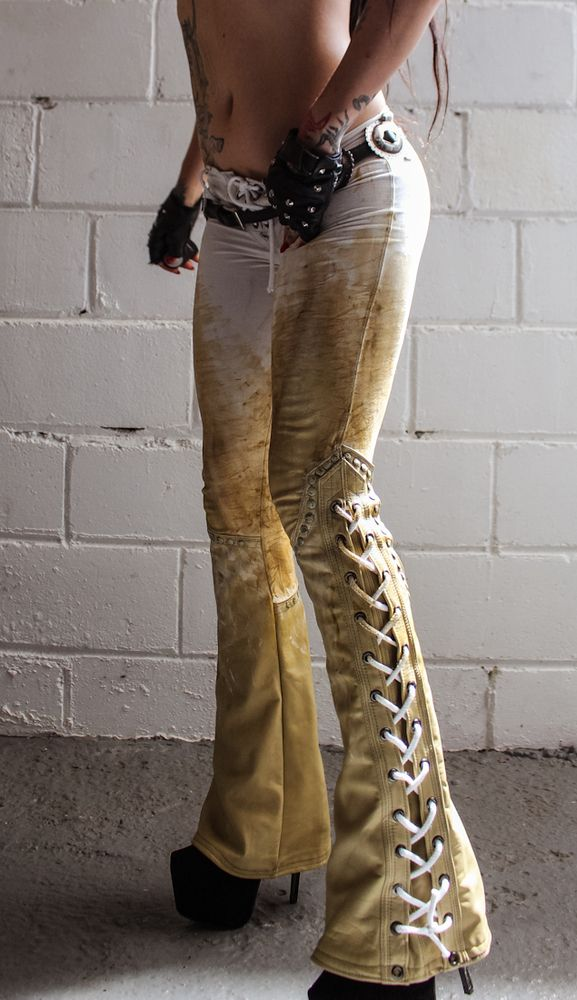 Image of TOXIC VISION Bonehunter drainpipe pants