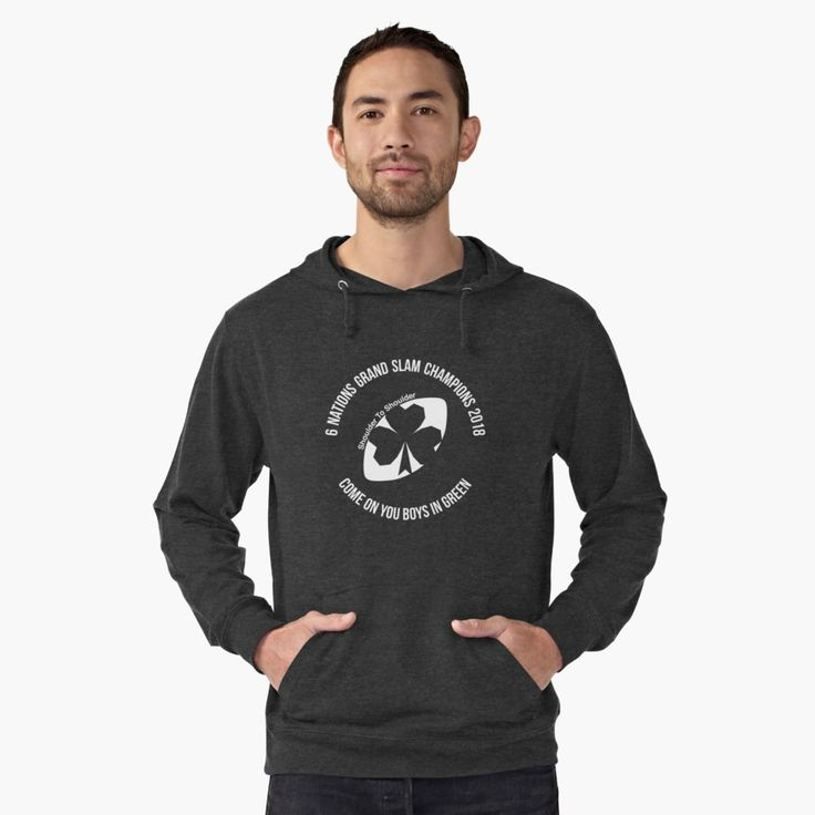 Ireland Grand Slam 2018 lightweight hoodie by Fimbis    _________________________________   Ireland, Irish, Ulster, Connacht, Leinster, Munster, shamrock, Irish rugby, rugby world cup, 6 nations, coybig, coygig, wrwc, 6 nations grand slam champions 2018, Kieth Earls, Rory Best, Jacob Stockdale, Sean Cronin, Tadhg Furlong, Cian Healy, CJ Stander, Conor Murray, Jonathan Sexton, Garry Ringrose, Rob Kearney, hoodie, hoody, apparel, clothing,