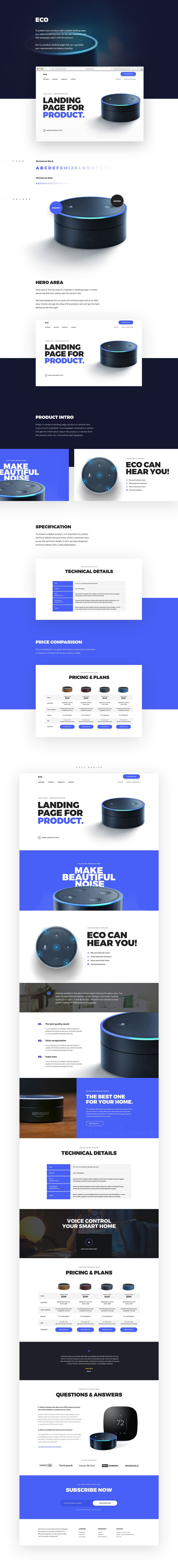 To present your product with a better landing page,you need something that can be user targeted andwell designed match with the product.Eco is a product landing page that can completeyour requirements to create a landing.