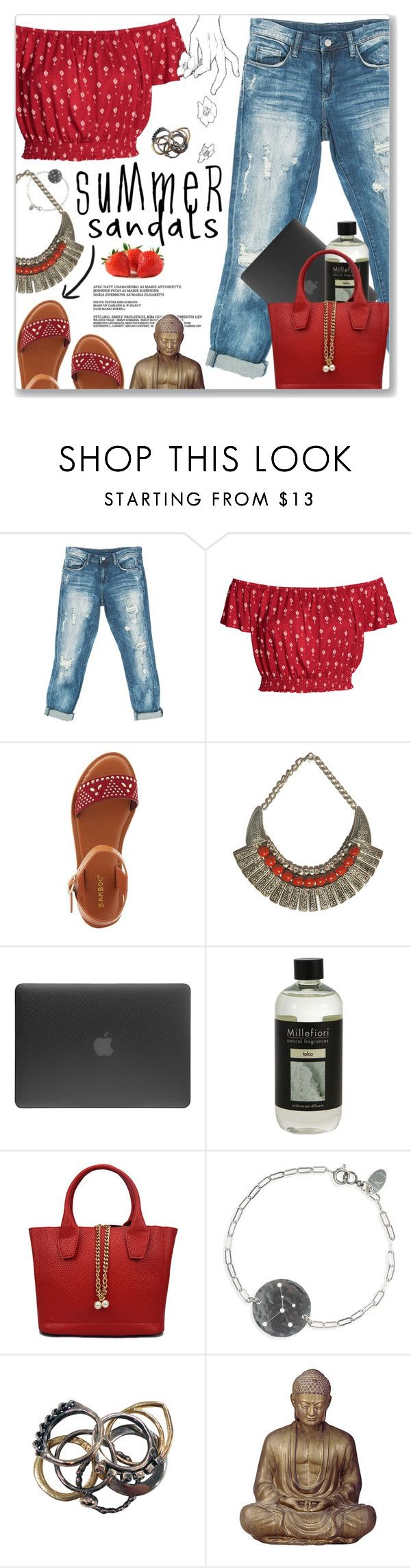 """Bobo, J Balvin"" by blendasantos ❤ liked on Polyvore featuring Sans Souci, Bamboo, Incase, Millefiori, Wildfox, IJA, Iosselliani and summersandals"