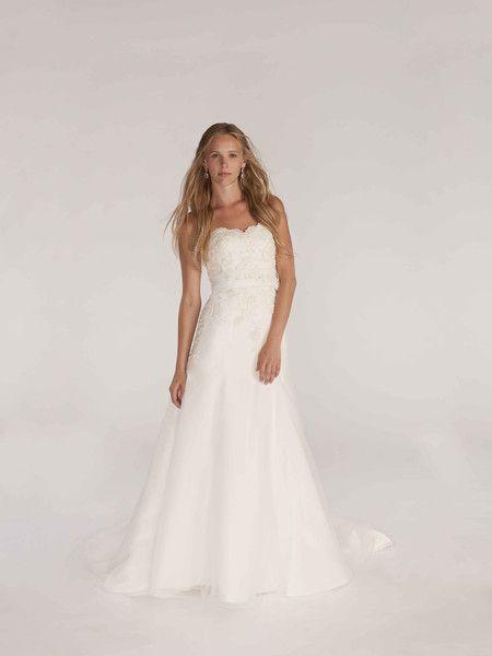 Elegant Kirstie Kelly Wedding Dress English Net Modified A Line wedding bridal