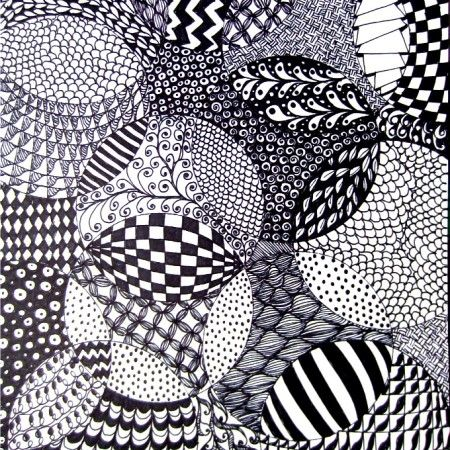 zentangle drawing idea  Has 6 PDF Pages for Starter Pages