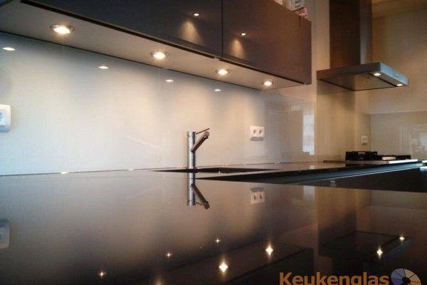 RAL9001 keuken achterwand glas