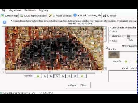 Artensoft Photomosaic Wizard használata