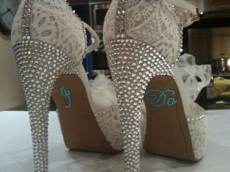 Custom bridal shoes   I am working on at the moment .. Pretty pleased so far ...