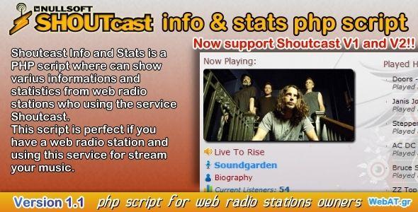 Shoutcast Info & Stats