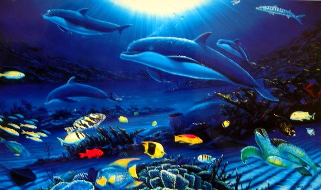 Wyland Galleries - visited in Hawaii and Las Vegas.  Fell in love with his art immediately!