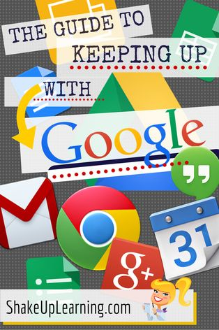 The Guide to Keeping Up With Google: Hashtags, Twitter, G+, Communities, Blogs and Channels You Should Follow | Shake Up Learning | www.shakeuplearning.com