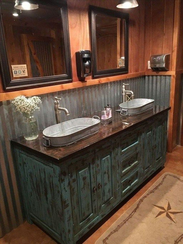 ✔ 24 easy rustic bathroom design ideas you might build for your home 7