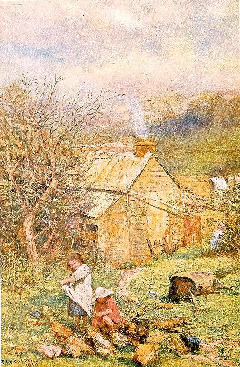 Frederick McCubbin:  RAIN AND SUNSHINE, 1910