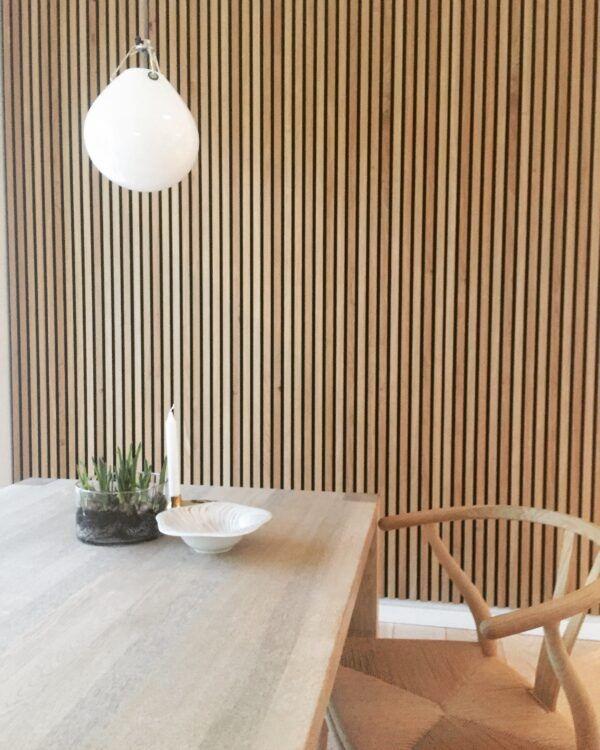 panneaux muraux en tasseaux de bois