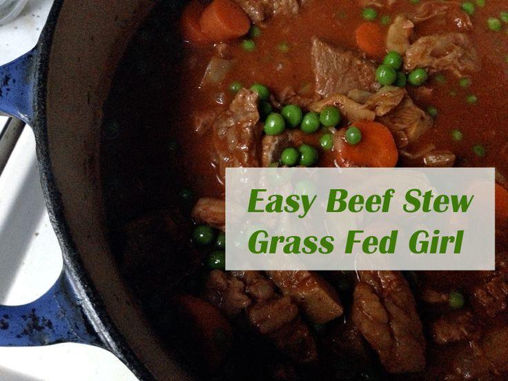 Lower Carb Paleo Beef Stew - Grass Fed Girl, LLC  #21dsd #beef stew