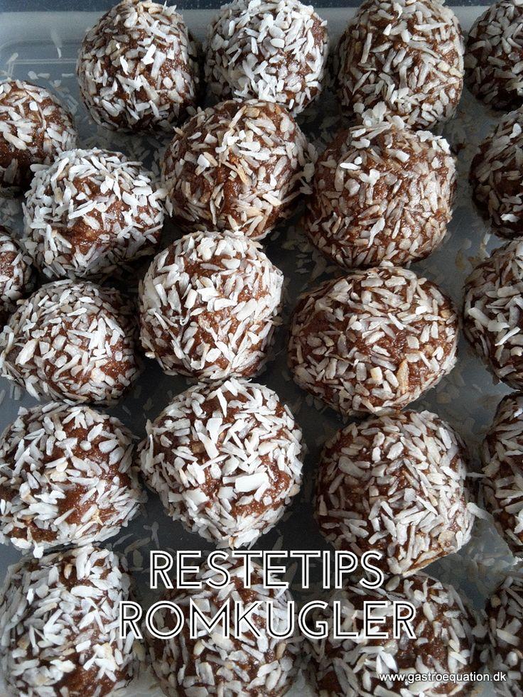 Romkugler kan man spise hele året og er ekstra gode hjemmelavet. Det er enkelt og kræver ikke særlige ingredienser, også får man endda ryddet op i resterne.