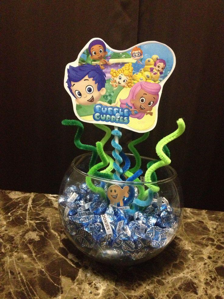 Best 25 bubble guppies centerpieces ideas on pinterest bubble guppies bubble guppies - Bubble guppies center pieces ...
