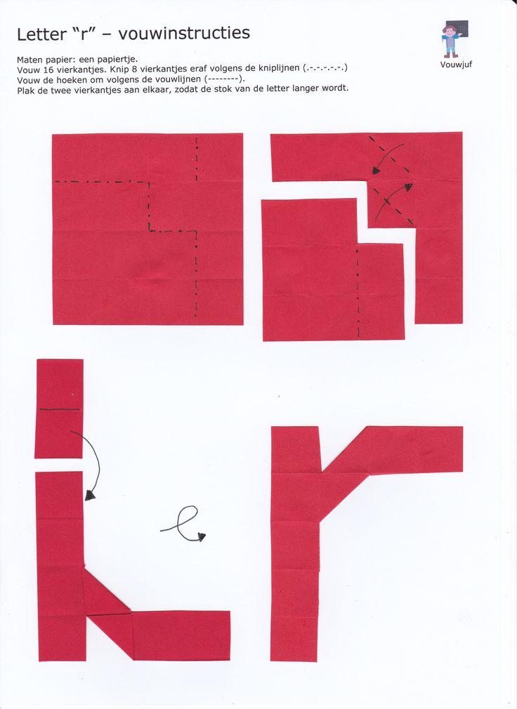 r - vouwinstructies