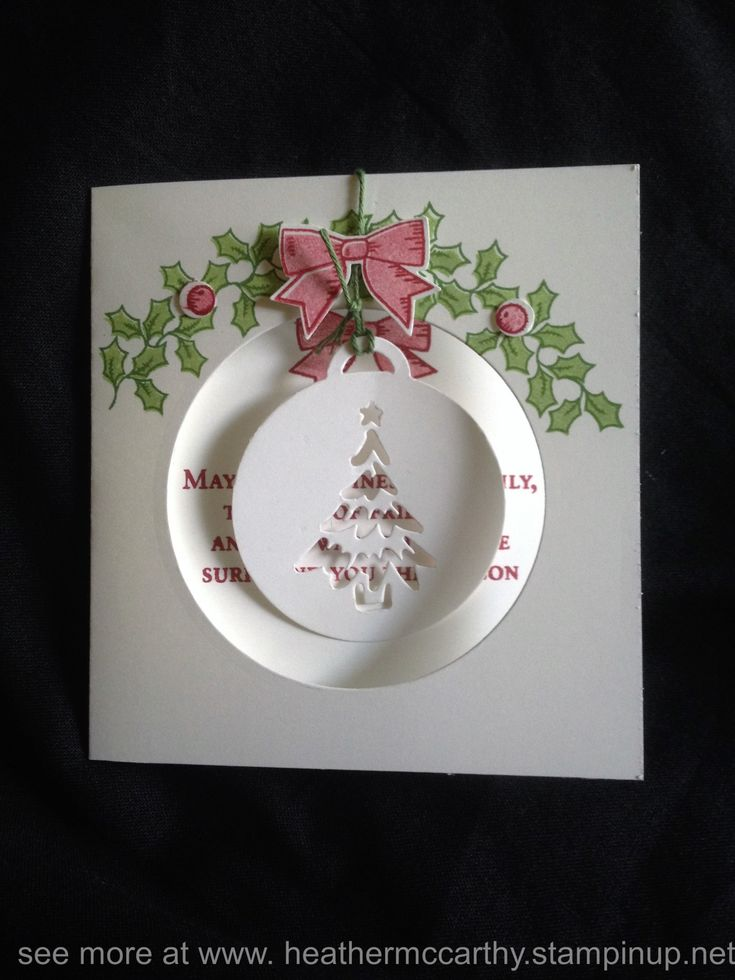 Stampin' Up's Holly Berry Happiness stamp set and Merry Tag's framelit dies, from 2016 Holiday catalogue