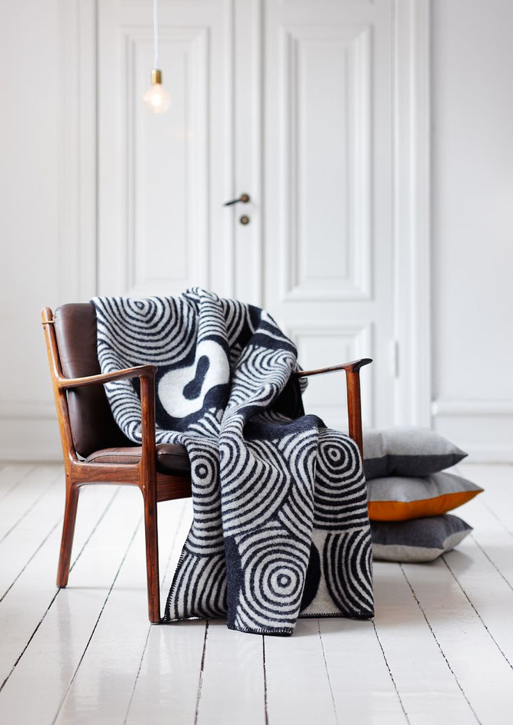 That blanket! styling by emma persson lagerberg for Klippan Yllefabrik