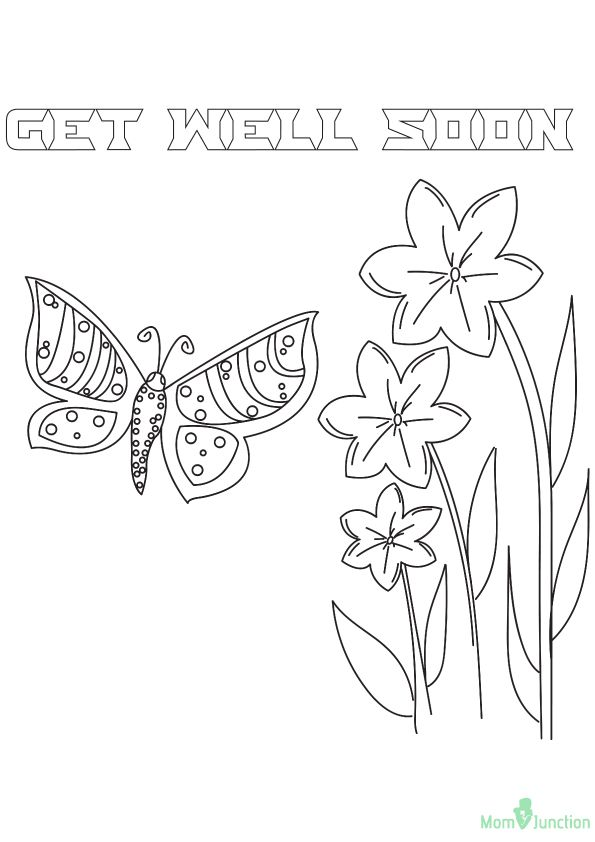 Printable Coloring Pages Get Well Soon Coloring Pages