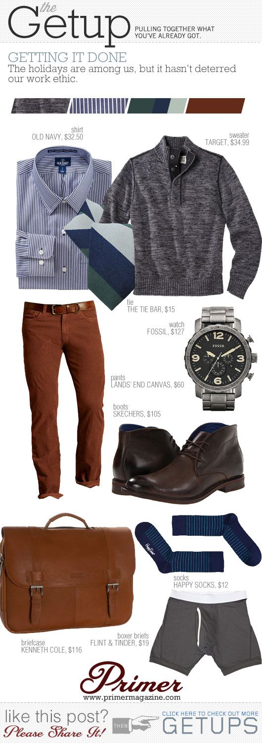 Grey, Navy, Brick.  The Getup: Getting It Done   Primer