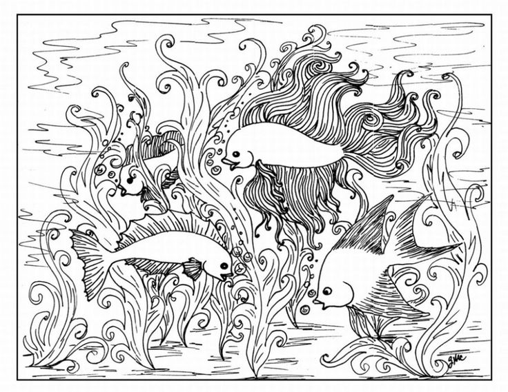 46 best art coloring therapy images on pinterest coloring books detailed fish coloring pages