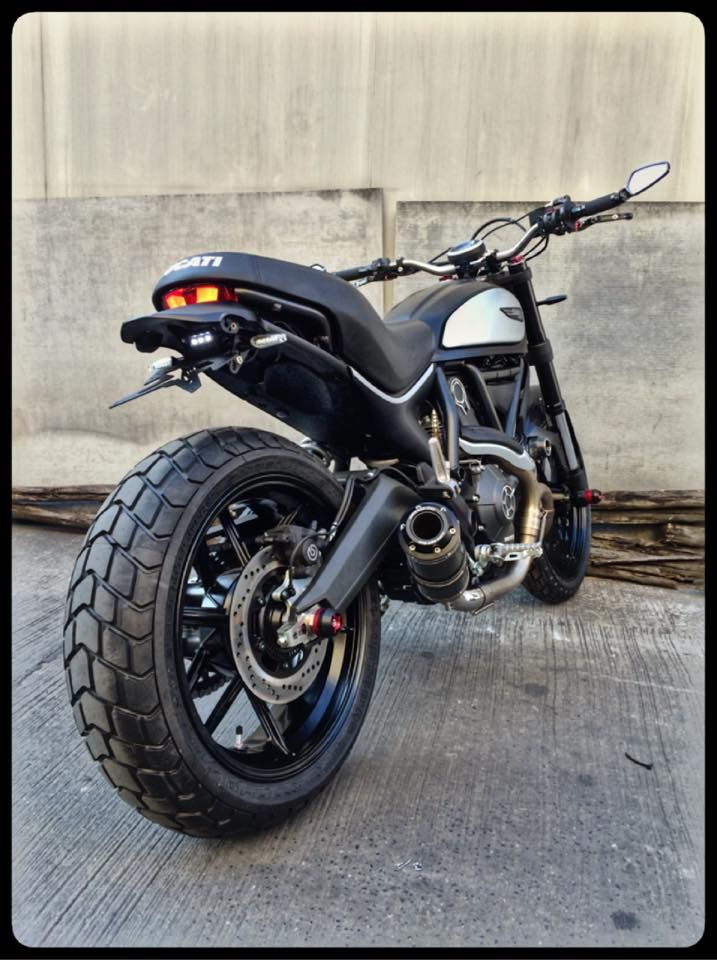Blacked Out Ducati Scrambler
