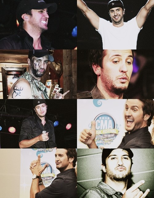 Luke Bryan funny faces:) I'm in a Luke Bryan mood tonight lol