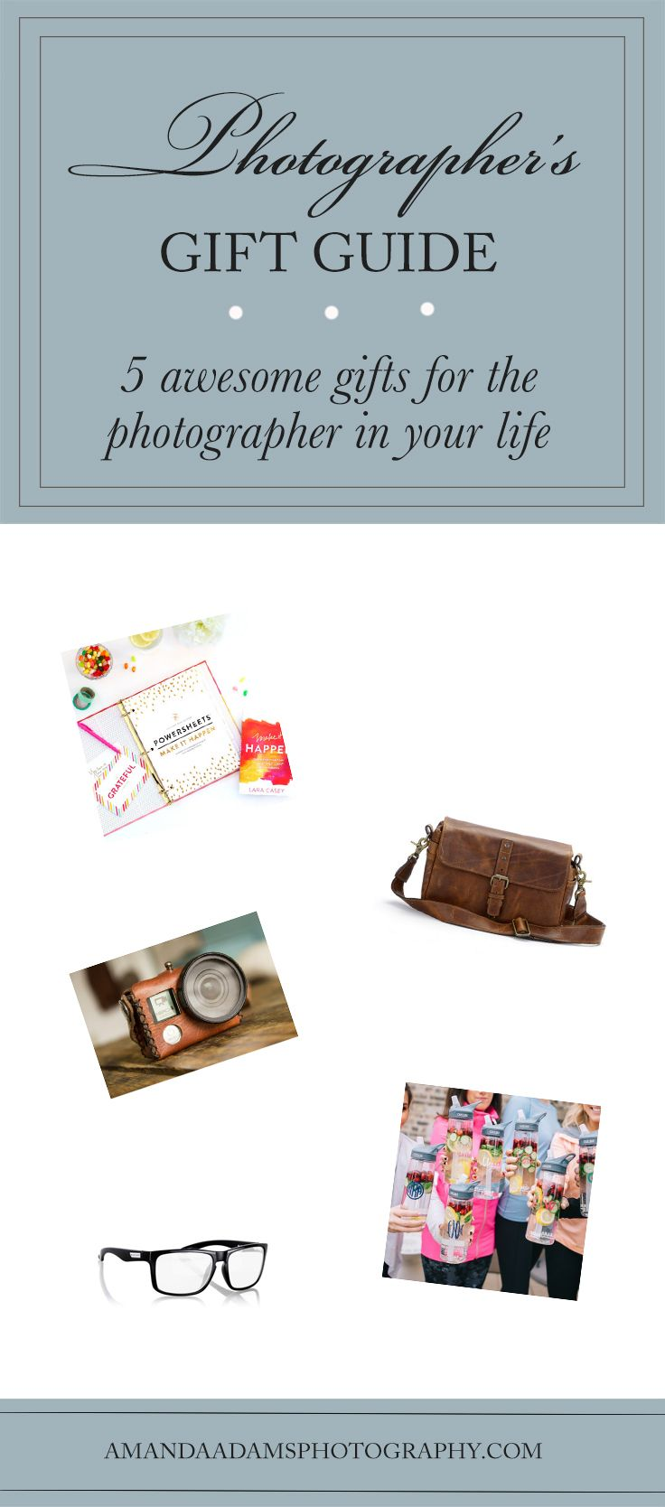 5 Awesome Gifts for the Photographer in Your Life | Photographer's Gift Guide | Amanda Adams Photography