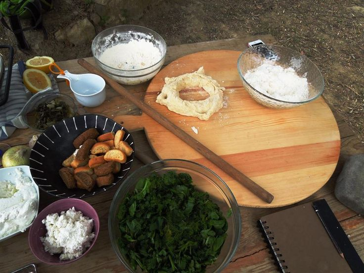 Wild greens & dough: historic & traditional Cretan baking and cooking lesson