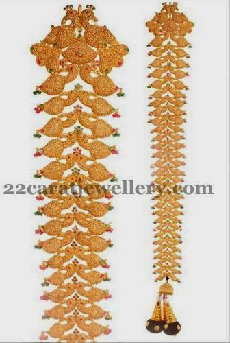 Peacock Jada with Chakri Uncuts | Jewellery Designs