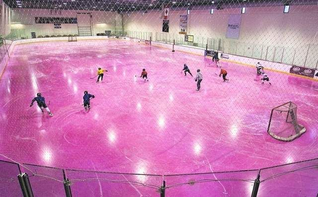 Pink rink for breast cancer awareness