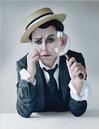 Scarlett Johansson as Buster Keaton by Tim Walker for W, June 2011