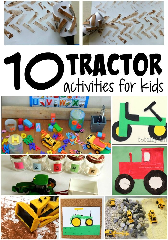 Farm themed activities for kids are the BEST! Especially in the fall! LOVE these tractor themed activities for kids - preschool and young elementary.