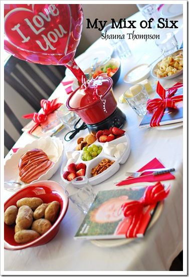 Valentines Day Fondue Dinner Sounds Like Fun IdeasParty IdeasFamily
