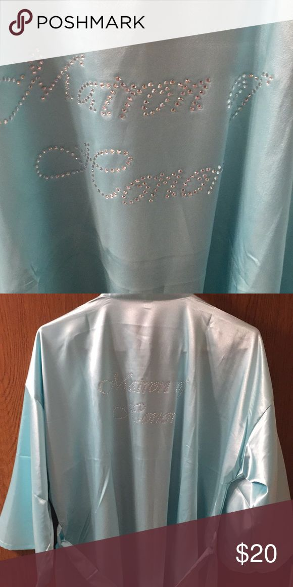 Matron of Honor silk robe Sea-foam green silk Matron of Honor robe. Only used once. Great for weddings, bridal shower gifts, or gifts for your bridesmaids! Intimates & Sleepwear Robes