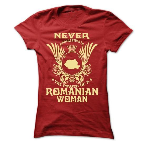 Never Underestimate the power of a Romanian woman - Lim - #couple gift #bestfriend gift. LIMITED TIME PRICE => https://www.sunfrog.com/LifeStyle/Never-Underestimate-the-power-of-a-Romanian-woman--Limited-Edition-Ladies.html?60505