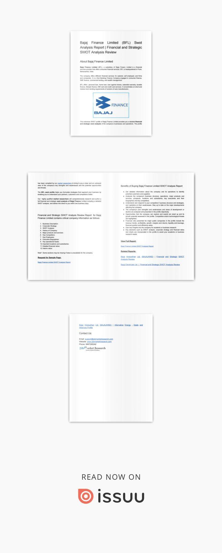 Bajaj Finance Limited Bfl Swot Analysis Report Swot Analysis