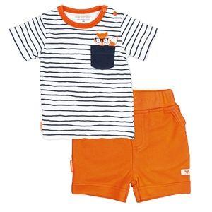 Kushies On Safari T-shirt & Short Set - Navy Stripe