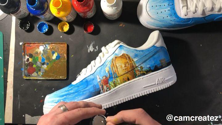 Custom Painted Travis Scott Nike Air Force Ones By Myself