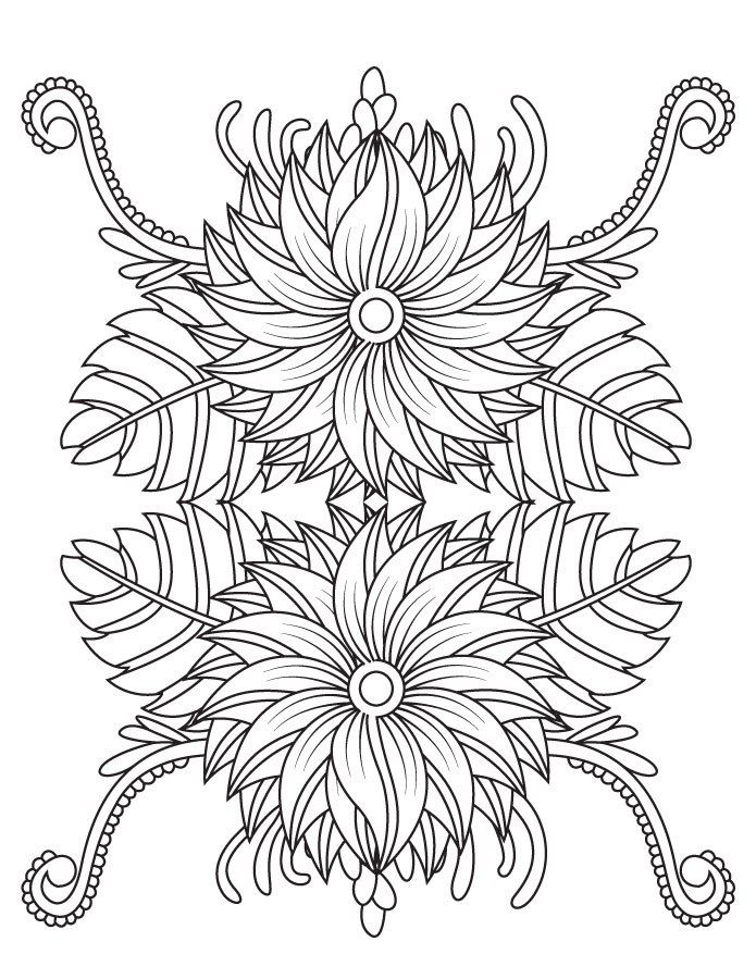 36 best coloriage fleurs et plantes flowers and plant colouring pages images on pinterest - Mandala pour adulte ...