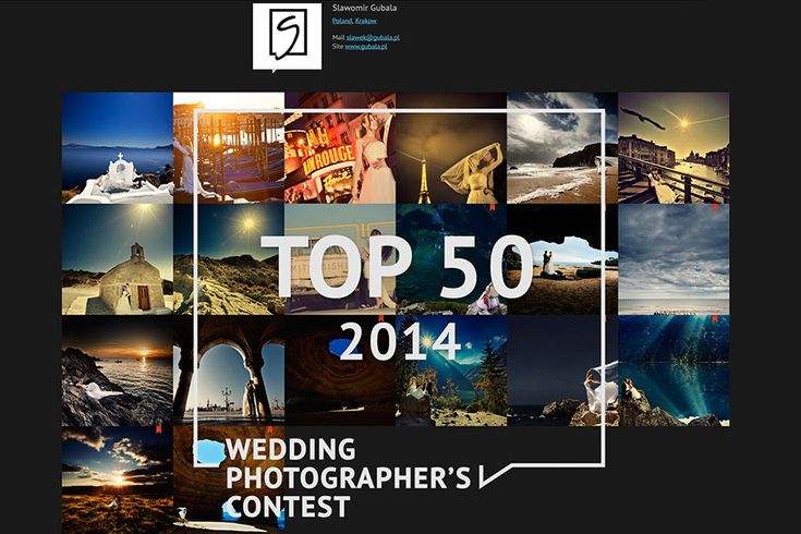 TOP50 – WEDDING PHOTOGRAPHER'S CONTEST – one of Best Wedding Photographers