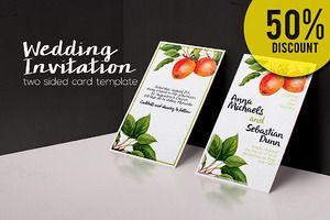 50%OFF  Botanical Wedding Invitation