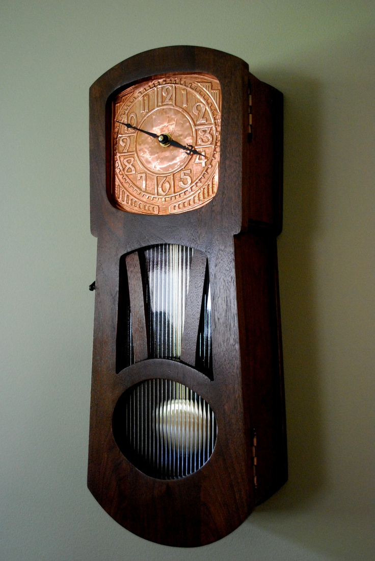 Wall clock w/ copper dial - By Ted T.