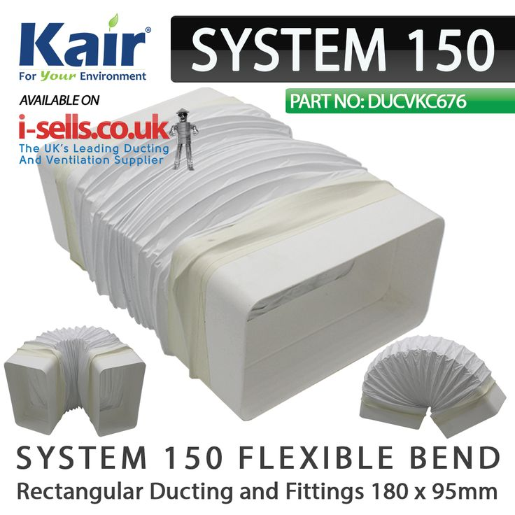 39 Best System 150mm Ducting And Fittings 180x95mm
