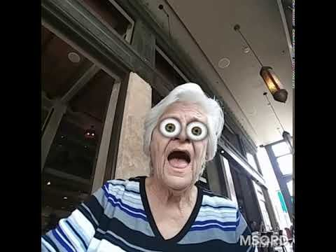 My Grandma tries out the masquerade app (MSQRD)