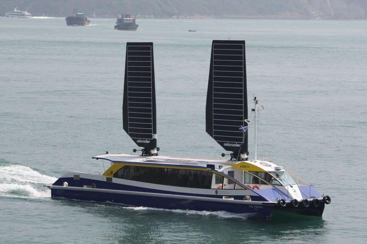 Elektro-Solar-Ausflugsboot / Katamaran / Sonnensegel 76 VIP Solar Sailor