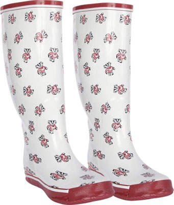 Wisconsin badgers rain boots